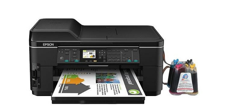 фото МФУ Epson WorkForce WF-7515 с СНПЧ