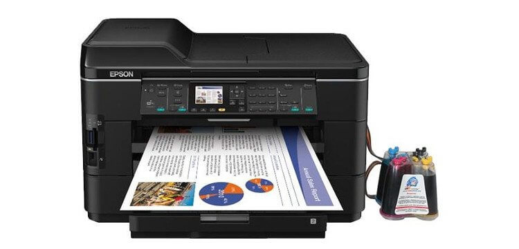 фото МФУ Epson WorkForce WF-7525 с СНПЧ