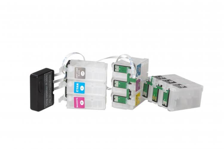 Перезаправляемые картриджи для Epson Stylus Photo R3000