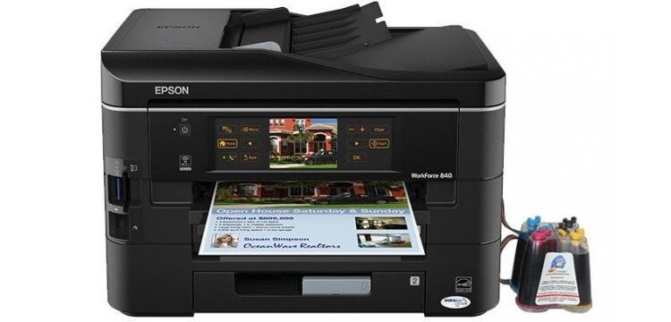 фото МФУ Epson WorkForce 840 с СНПЧ