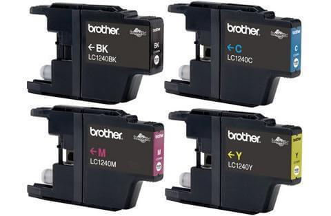 Комплект картриджей Brother LC-1240 (C, M, Y, Bk)Подходит к моделям: Brother MFC-J6510, 6910DW<br>