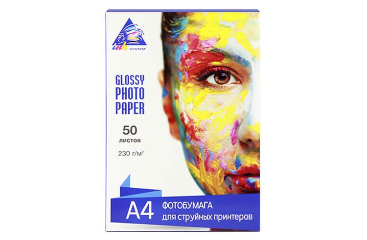 Глянцевая фотобумага INKSYSTEM Glossy Photo Paper 230g, A4, 50 листов фотобумага lomond xl glossy photo paper