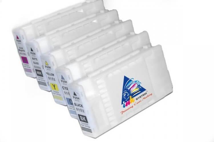 Перезаправляемые картриджи для Epson SureColor SC-F6000Перезаправляемые картриджи изготовлены по аналогии с оригинальными картриджами, однако позволяют дозаправлять каждый картридж снова и снова.<br>