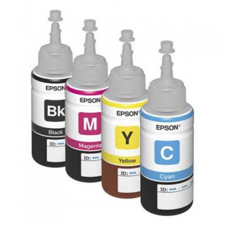 Оригинальные чернила для Epson L220 (70 мл, 4 цвета)Оригинальные чернила для Epson. цвета: Cyan, Magenta, Yellow, Black, емкость баночек - по 70 мл.<br>