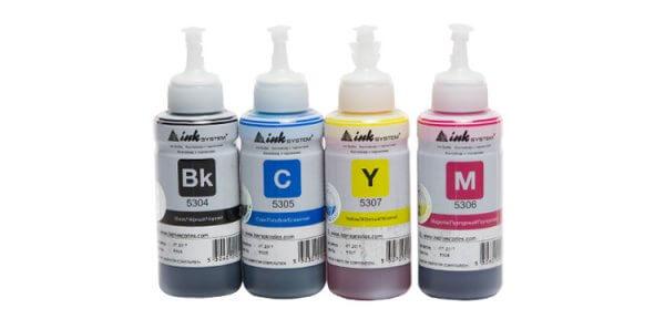 Чернила INKSYSTEM для фотопечати на Epson L130Комплектация: 4 банки по 100 мл, цвета: Cyan, Magenta, Yellow, Black. Фоточернила INKSYSTEM обеспечивают точную цветопередачу, при этом качество отпечатков на 95-98% соответствует оригинальным чернилам.<br>