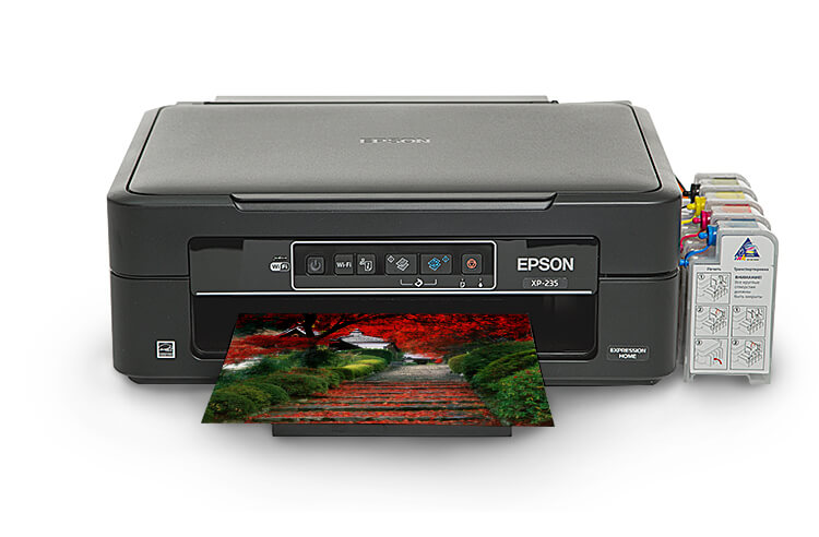 МФУ Epson Expression Home XP-235 с СНПЧ от Inksystem