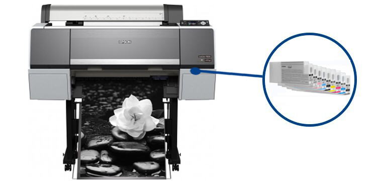 Плоттер Epson SureColor SC-P6000 с ПЗКШирокоформатный принтер с многоразовыми картриджами, 8-цветная струйная печать, макс. формат печати A0 (841x1189 мм), Ethernet (RJ-45), USB 2.0<br>