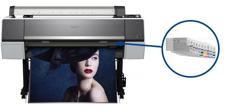 Плоттер Epson SureColor SC-P8000 с ПЗКШирокоформатный принтер с многоразовыми картриджами, 8-цветная струйная печать, макс. формат печати A0 (841x1189 мм), Ethernet (RJ-45), USB 2.0<br>