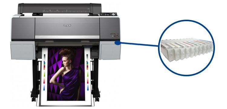 Плоттер Epson SureColor SC-P7000 с ПЗКШирокоформатный принтер с многоразовыми картриджами, 11-цветная струйная печать, макс. формат печати A0 (841x1189 мм), Ethernet (RJ-45), USB 2.0<br>