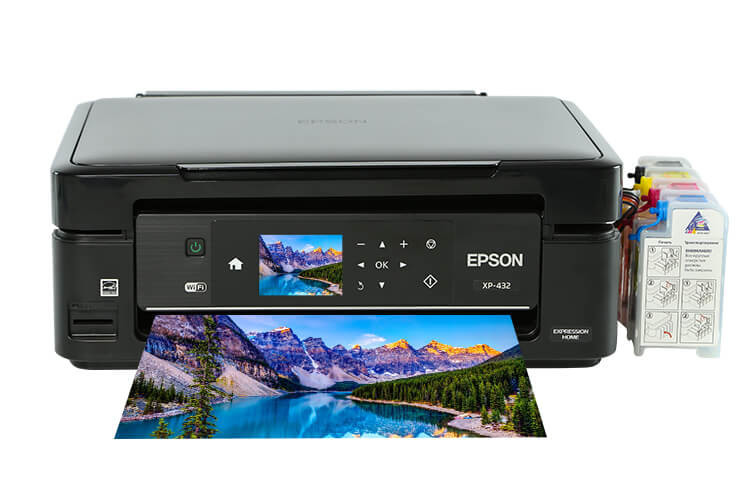 МФУ Epson Expression Home XP-432 с СНПЧ ciss for epson xp 342 xp 432 xp 235 xp 332 xp 335 xp 435 xp235 printer empty for epson t2991 t2992 with arc chips