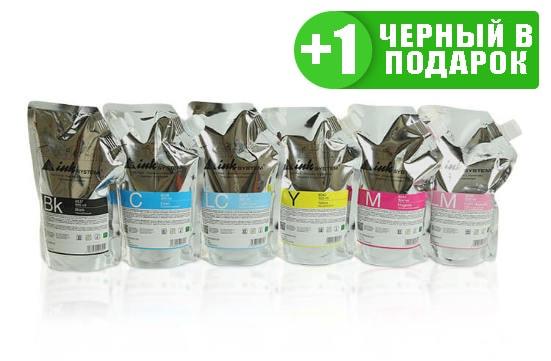 Светостойкие чернила INKSYSTEM для фотопечати, дой-пак 500мл (6 цветов) от Inksystem