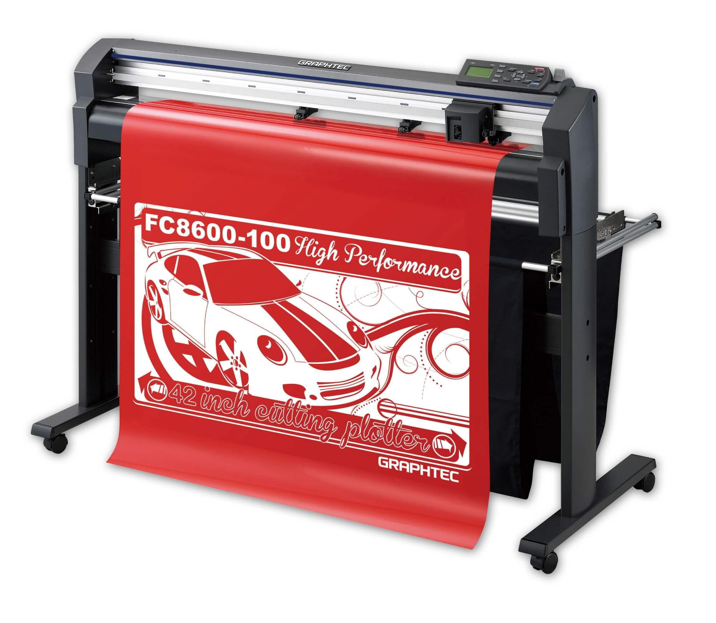 Режущий плоттер Graphtec FC8600-100 со стендом и корзиной