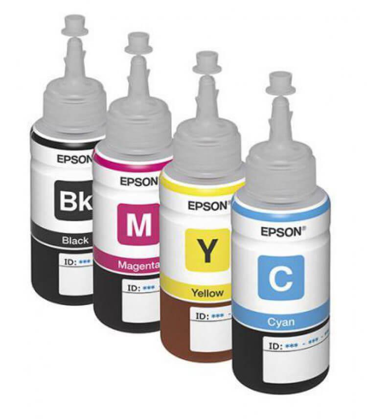 Оригинальные чернила для Epson L486 (70 мл, 4 цвета) цена и фото