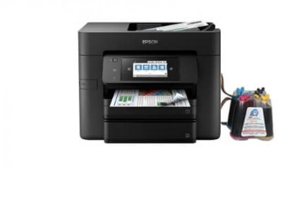 фото МФУ Epson WorkForce Pro WF-4740DWF с СНПЧ