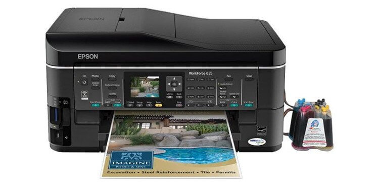 фото МФУ Epson WorkForce 635 Refurbished с СНПЧ