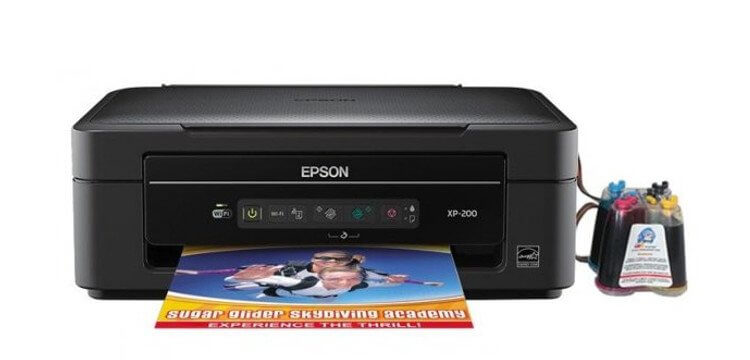фото МФУ Epson Expression Home XP-200 с СНПЧ