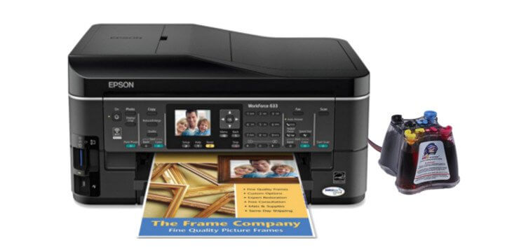 фото МФУ Epson WorkForce 633 Refurbished с СНПЧ