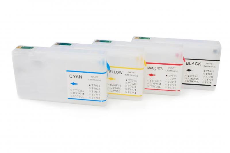 Перезаправляемые картриджи для Epson WorkForce Pro WP-4015DN комплект оригинальных картриджей для epson workforce pro wp 4015dn