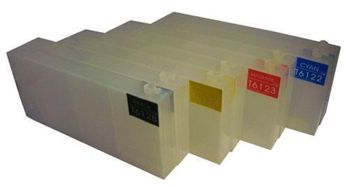 Перезаправляемые картриджи для Epson Stylus Pro 9400Перезаправляемые картриджи изготовлены по аналогии с оригинальными картриджами, однако позволяют дозаправлять каждый картридж снова и снова.<br>