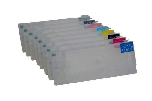 Перезаправляемые картриджи для Epson Stylus Pro 4800Перезаправляемые картриджи изготовлены по аналогии с оригинальными картриджами, однако позволяют дозаправлять каждый картридж снова и снова.<br>