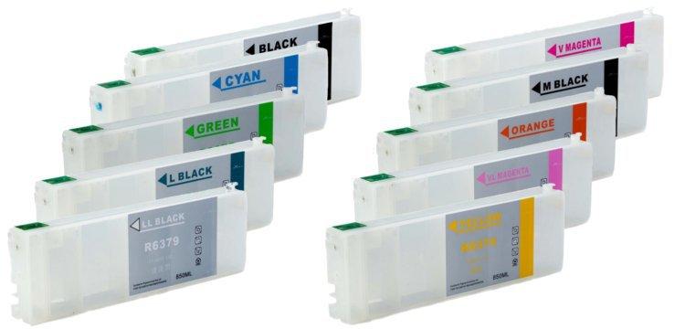Перезаправляемые картриджи для Epson Stylus Pro 9910  цена и фото