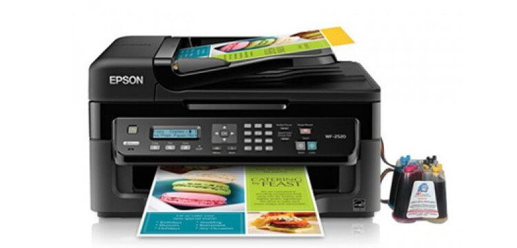 фото МФУ Epson Workforce WF-2520 с СНПЧ