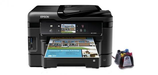 фото МФУ Epson Workforce WF-3540 с СНПЧ (США)