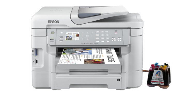 фото МФУ Epson WorkForce WF-3530DTWF с СНПЧ