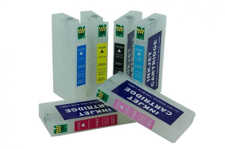 Перезаправляемые картриджи для Epson Stylus Photo RX700 epson original t559440 rx700 515