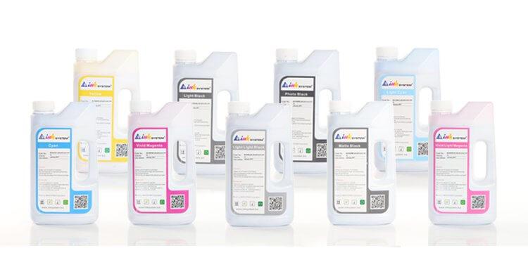 Купить со скидкой Комплект ультрахромных чернил INKSYSTEM для Epson R2400 1 л. (9 цветов)