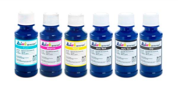 Чернила INKSYSTEM для фотопечати на HP Photosmart C4180 (фоточернила)Комплектация: 6 банок по 100 мл, цвета: Cyan, Gray, Magenta, Matte Black, Photo Black, Yellow. Фоточернила INKSYSTEM обеспечивают точную цветопередачу, при этом качество отпечатков на 95-98% соответствует оригинальным чернилам.<br>