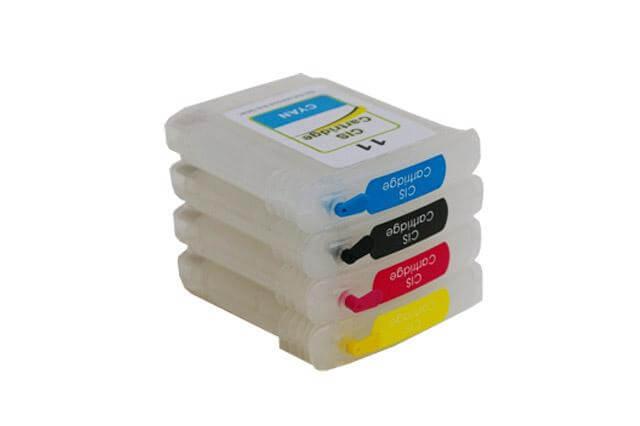 Перезаправляемые картриджи для HP K850Перезаправляемые картриджи изготовлены по аналогии с оригинальными картриджами, однако имеют обнуляющиеся чипы, которые позволяют дозаправлять каждый картридж снова и снова, до нескольких сотен раз.<br>