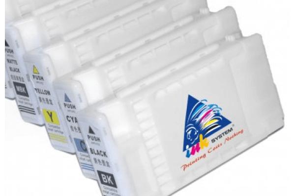 Перезаправляемые картриджи для Roland SolJet Pro III xc-540Перезаправляемые картриджи изготовлены по аналогии с оригинальными картриджами, однако имеют обнуляющиеся чипы, которые позволяют дозаправлять каждый картридж снова и снова, до нескольких сотен раз.<br>