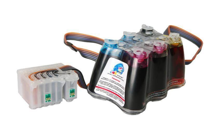 СНПЧ Epson Stylus Photo 825Купить систему беспрерывной подачи чернил для Эпсон Stylus Photo 825. Лидер рынка расходных материалов гарантирует отличное качество печати при существенной экономии. Установка системы в подарок<br>