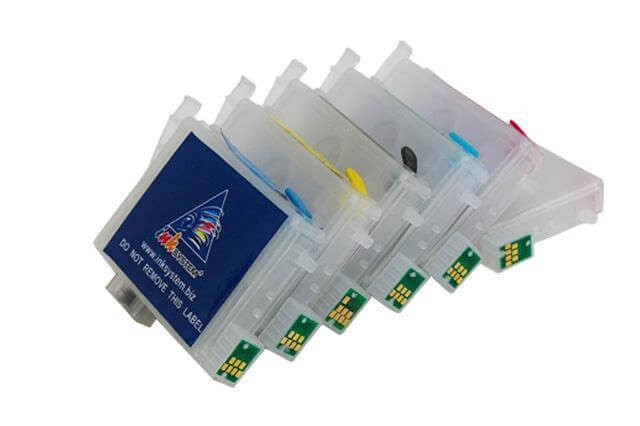 Перезаправляемые картриджи для Epson Stylus Photo R380Перезаправляемые картриджи изготовлены по аналогии с оригинальными картриджами, однако имеют обнуляющиеся чипы, которые позволяют дозаправлять каждый картридж снова и снова, до нескольких сотен раз.<br>