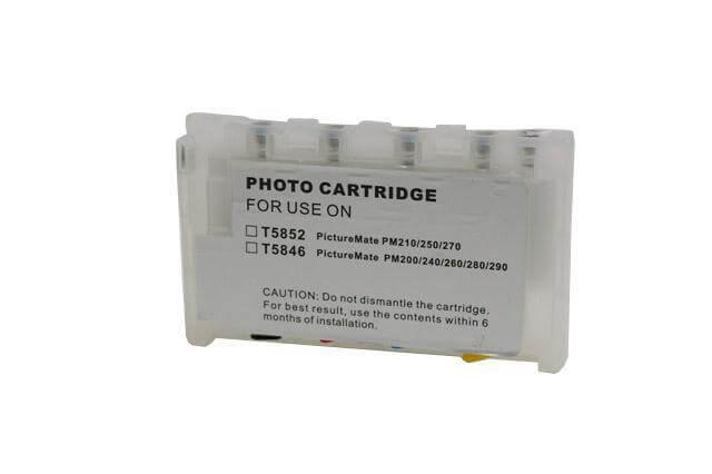 Перезаправляемые картриджи для Epson Picture Mate 500Перезаправляемые картриджи изготовлены по аналогии с оригинальными картриджами, однако имеют обнуляющиеся чипы, которые позволяют дозаправлять каждый картридж снова и снова, до нескольких сотен раз.<br>