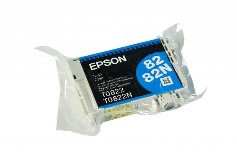 Картридж Epson T0822 Cyan (голубой) код C13T08224A10 6 color printer continuous ink supply system for epson tx700w tx710w t59 t50 tx650 more