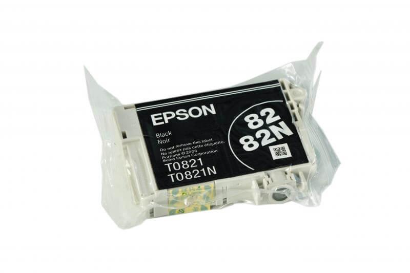 Картридж Epson T0821 Black (чёрный) код C13T08214A10Подходит к моделям: Epson Stylus Photo R270 / R290 / R295 / R390 / T50 / T59 / RX590 / RX610 / RX615 / TX650 / TX659 / RX690 / TX700 / TX710W / TX800FW / 1410<br>