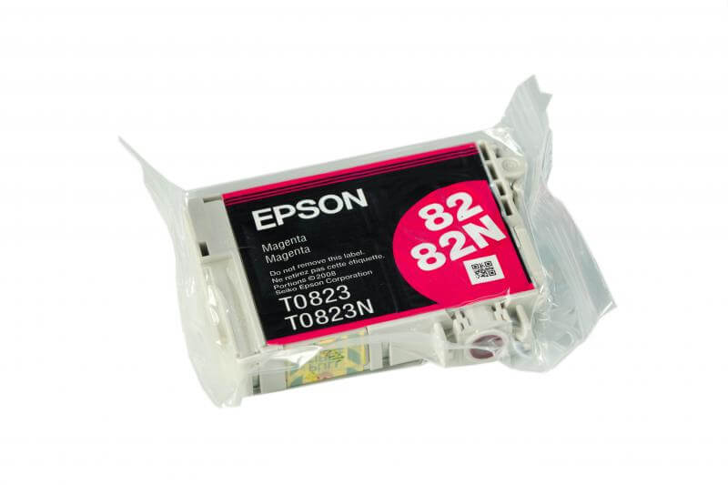 Картридж Epson T0823 Magenta (пурпурный) код C13T08234A10Подходит к моделям: Epson Stylus Photo R270 / R290 / R295 / R390 / T50 / T59 / RX590 / RX610 / RX615 / TX650 / TX659 / RX690 / TX700 / TX710W / TX800FW / 1410<br>