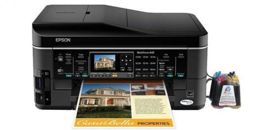 фото МФУ Epson WorkForce 645 Refurbished с СНПЧ