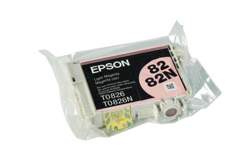 Картридж Epson T0826 Light Magenta (светло-пурпурный) код C13T08264A10Подходит к моделям: Epson Stylus Photo R270 / R290 / R295 / R390 / T50 / T59 / RX590 / RX610 / RX615 / TX650 / TX659 / RX690 / TX700 / TX710W / TX800FW / 1410<br>
