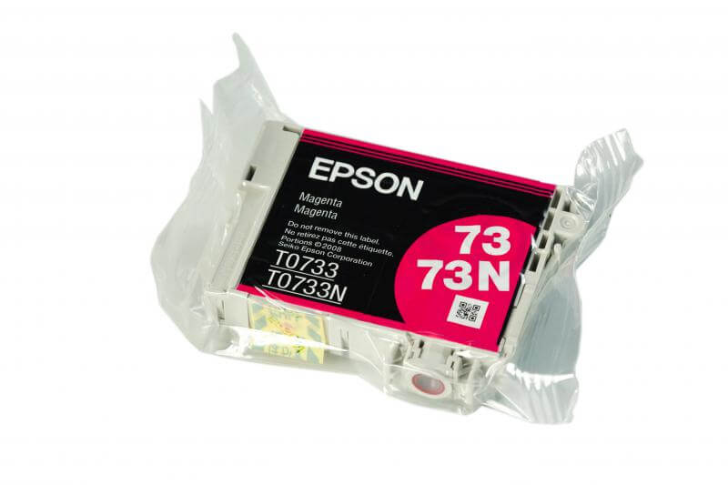Картридж Epson T0733 Magenta (пурпурный) код C13T07334A10Подходит к моделям: Epson StylusC79 / C110 / CX3900 / CX4900 / CX5900 / CX6900F / CX7300 / CX8300 / X9300F / TX200 / TX209 / TХ210 / TX219 / TX400 / TX409 / TX410 / TX419 / TX550W / Office T30 / T40W / TX300F / ТХ510FN / TX600FW<br>