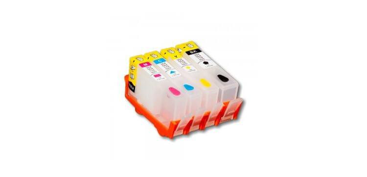 Перезаправляемые картриджи для HP Photosmart 5510 (картриджи 178)Перезаправляемые картриджи изготовлены по аналогии с оригинальными картриджами, однако позволяют дозаправлять каждый картридж снова и снова, до нескольких сотен раз.<br>