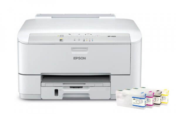Принтер Epson WorkForce Pro WP-4023 с ПЗК и чернилами