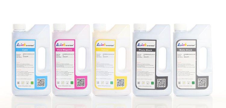 Комплект ультрахромных чернил INKSYSTEM для Epson SC-T3000 1000 мл. (5 цветов)