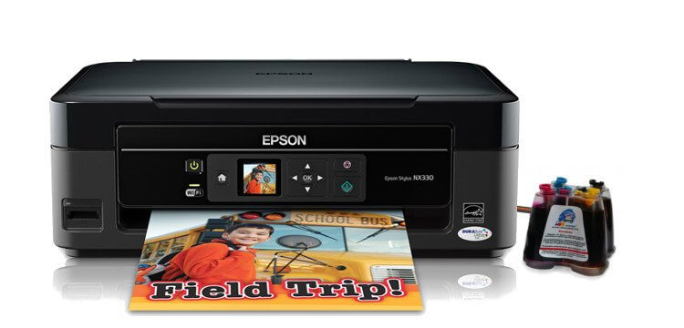 фото МФУ Epson Stylus NX330 Refurbished с СНПЧ