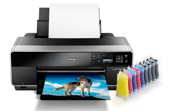 Принтер Epson Stylus Photo R3000 с СНПЧ и чернилами (Рус)