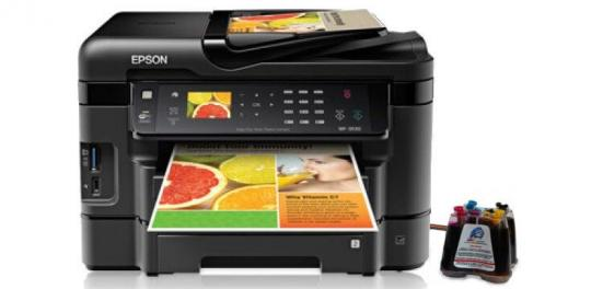 фото МФУ Epson WorkForce WF-3530 с СНПЧ