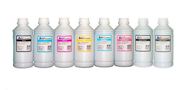 Комплект ультрахромных чернил INKSYSTEM для Epson 9600, 1л. (8 цветов) комплект ультрахромных чернил inksystem для epson 9910 1л 5 цветов