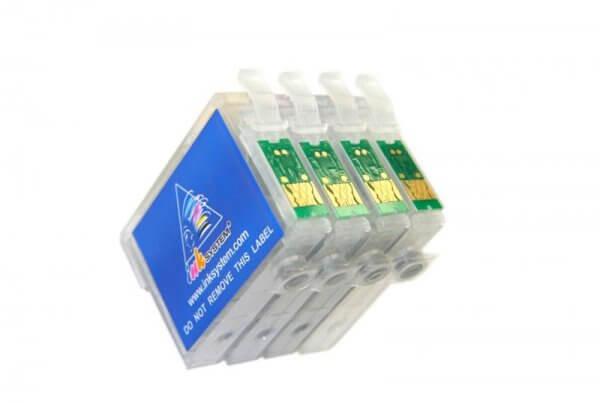 Перезаправляемые картриджи для Epson Expression Home XP-300Перезаправляемые картриджи изготовлены по аналогии с оригинальными картриджами, однако имеют обнуляющиеся чипы, которые позволяют дозаправлять каждый картридж снова и снова, до нескольких сотен раз.<br>